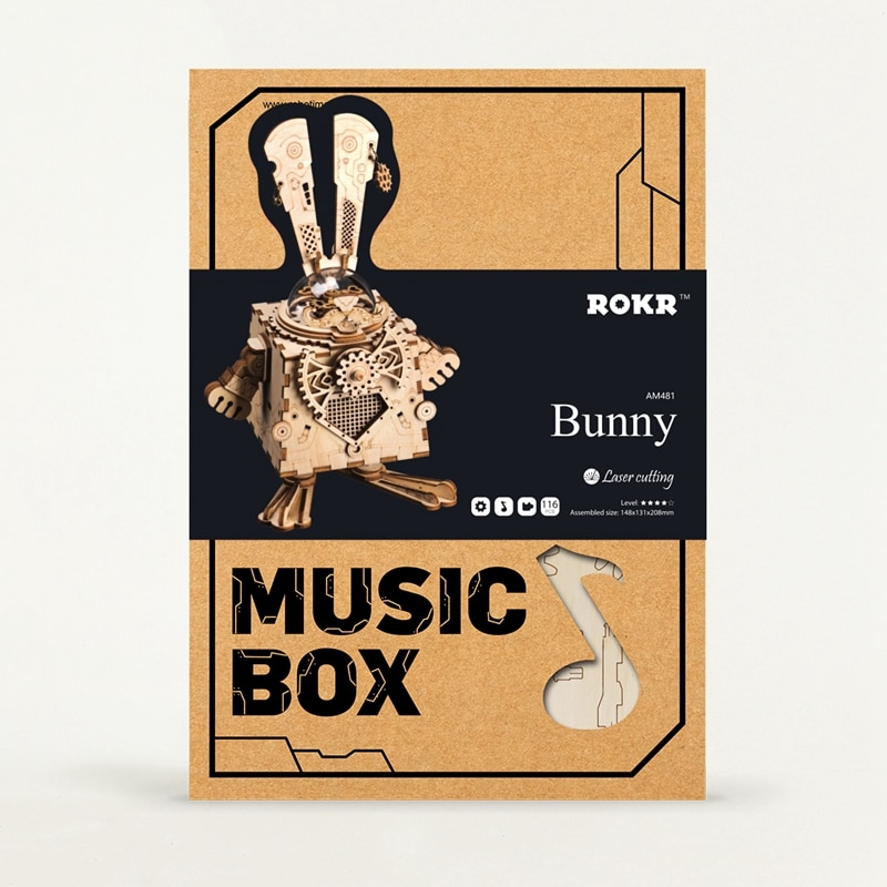 ROKR Bunny Steampunk 3D Puzzle 3