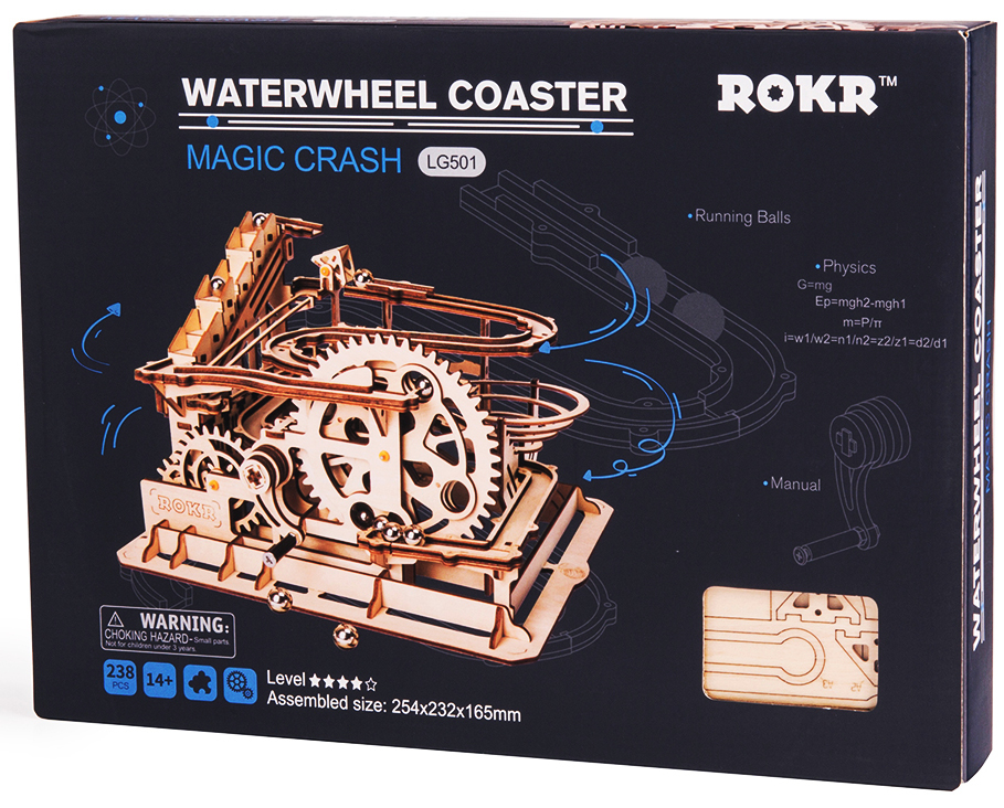 ROKR Marble Run Waterwheel Coaster 3D Puzzle 3