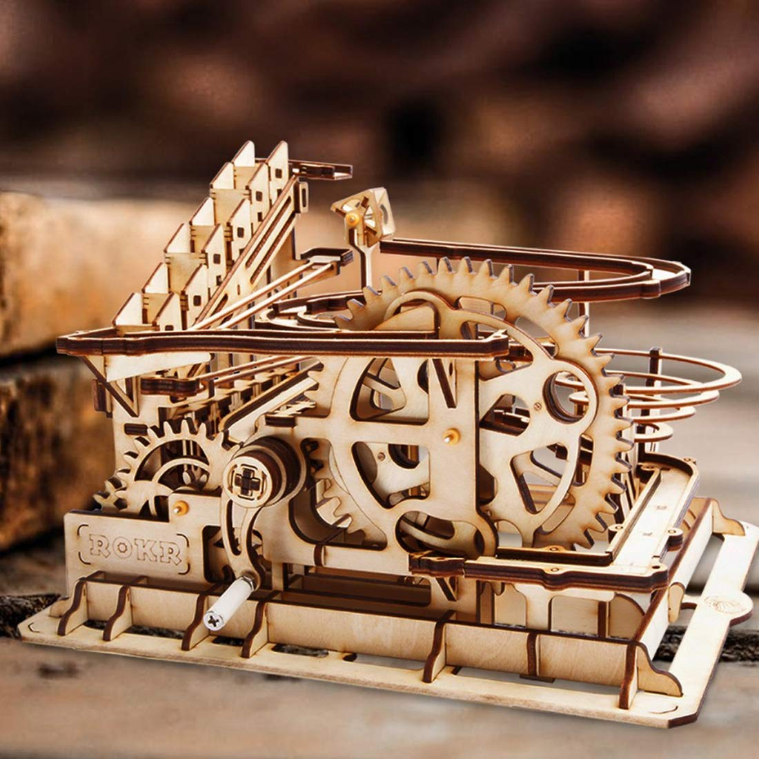 ROKR Marble Run Waterwheel Coaster 3D Puzzle 1