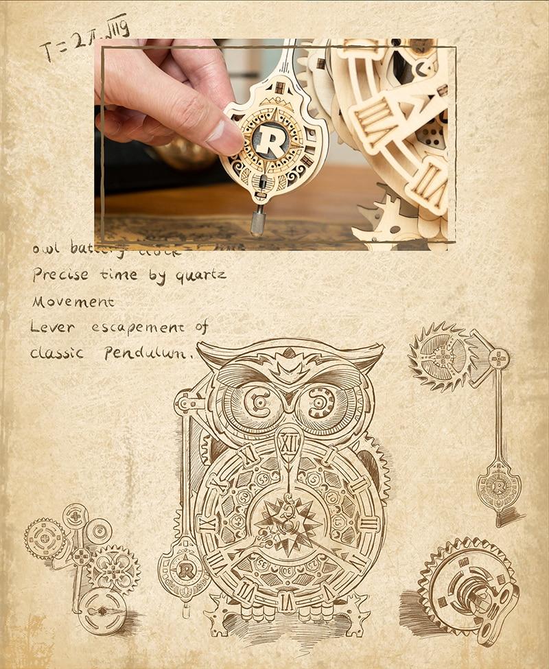 ROKR Owl Clock 4