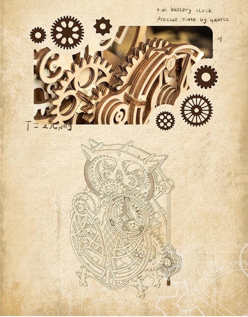 ROKR Owl Clock 6